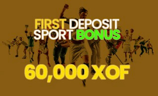 bonus de bienvenue sportcash 60000 XOF
