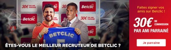 betclic bonus 30 euros parrain