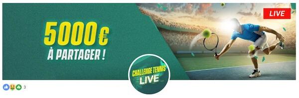 pariez en live tennis unibet promotion