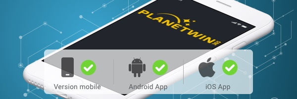 test application mobile planetwin365