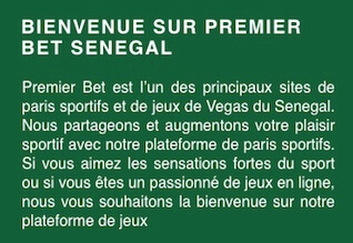 senegal premier bet enregistrement