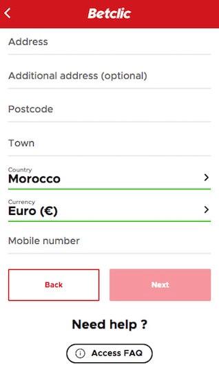 créer un compte sur betclic au maroc