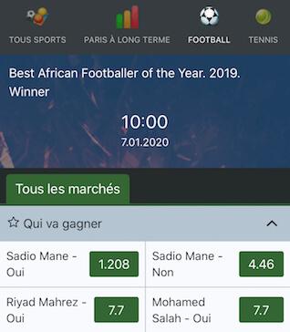 favori meilleur joueur foot afrique 2019