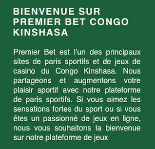 premier bet au congo kinshasa
