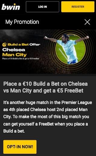 freebet 5 euros bwin chelsea man city
