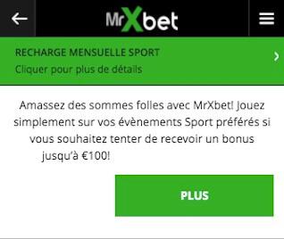 mrxbet recharge 100 euros football bonus
