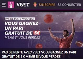 vbet freebet 5€ football