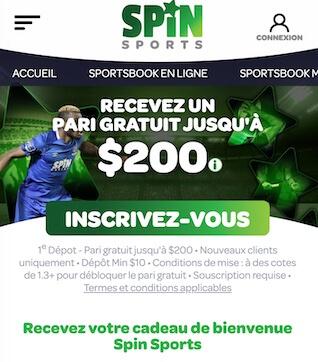 bonus spin sports freebet