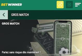 bet winner 5 euros pari remboursé
